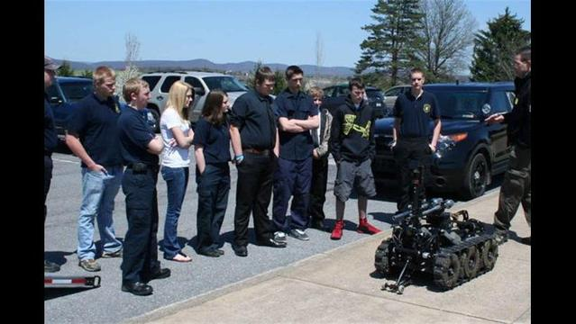 CPI Students Learn About Bomb Robot