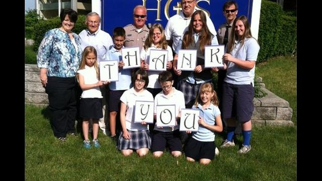Hollidaysburg Catholic School Thanks Police