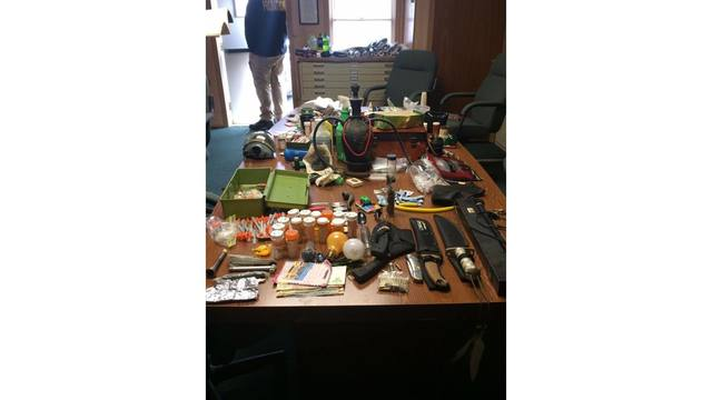 Drugs and weapons discovered during search