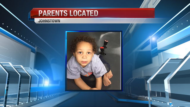 Parents located after toddler found wandering
