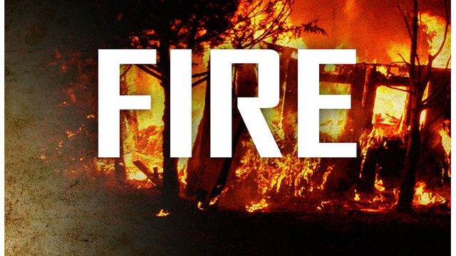 Train starts brush fire