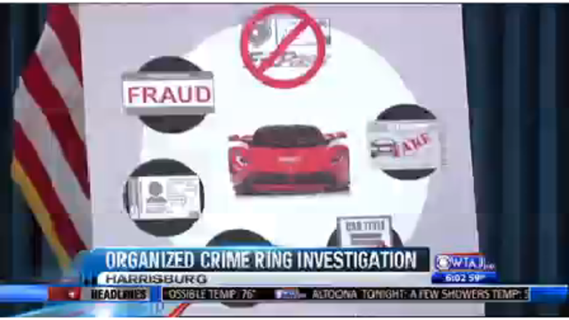 Pennsylvania says it busted up fraudulent license plate ring