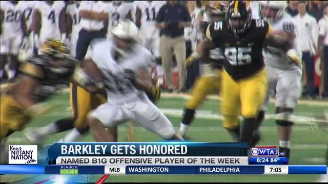 Saquon Barkley makes history at the Big Ten football awards