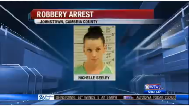 Woman accused of robbery