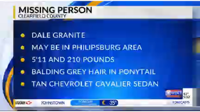 Another person missing in Clearfield County