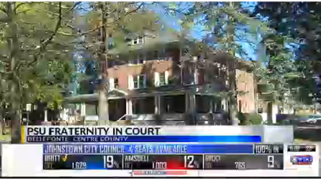 PSU fraternity in court today