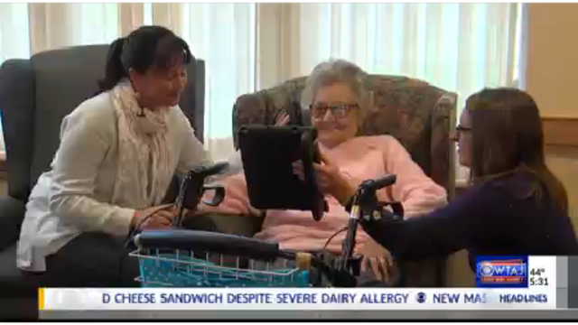 Nursing home using tablets to connect