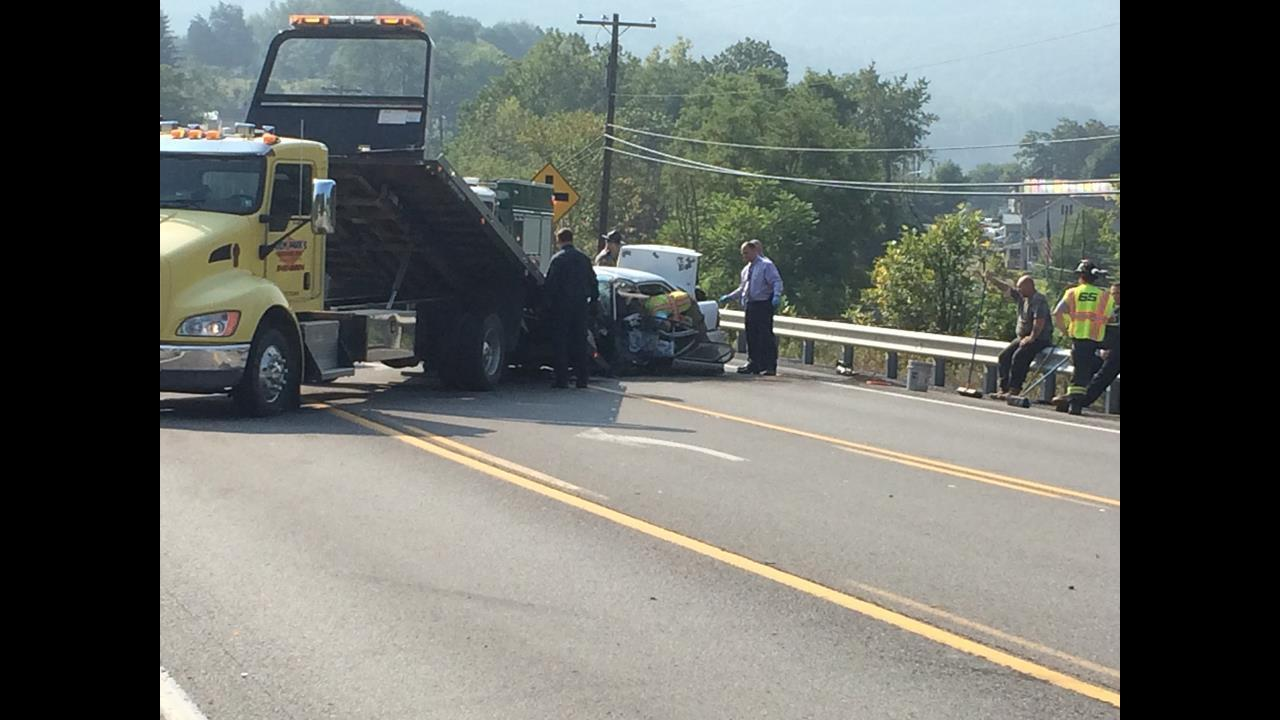 Route 22 back open after head-on collision