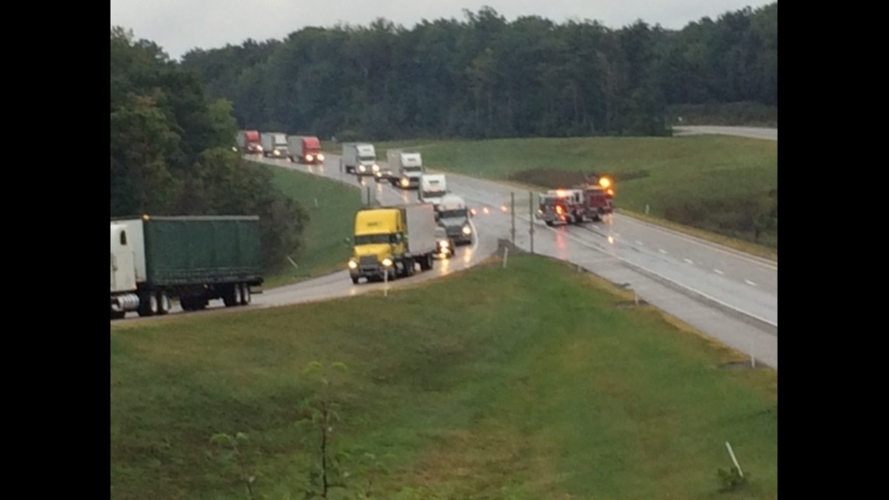 I-80 westbound closed due to wreck