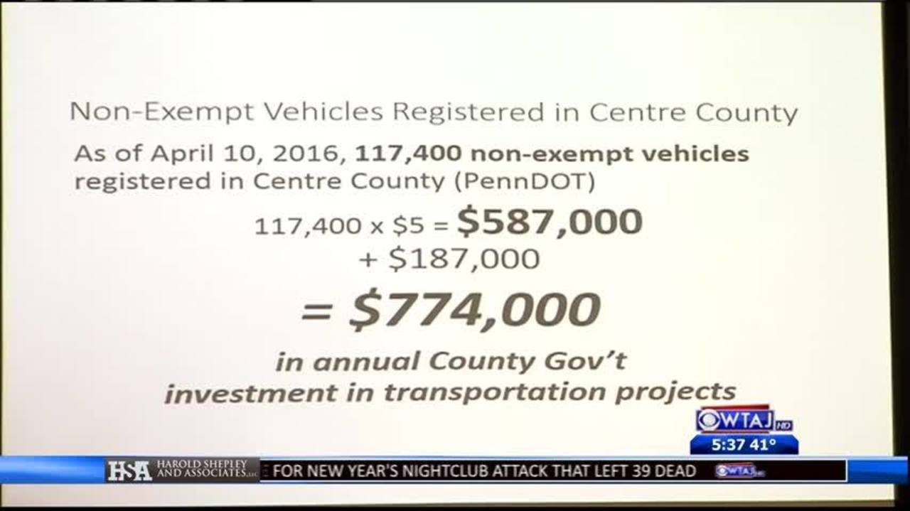 County looks into vehicle registration fee increase
