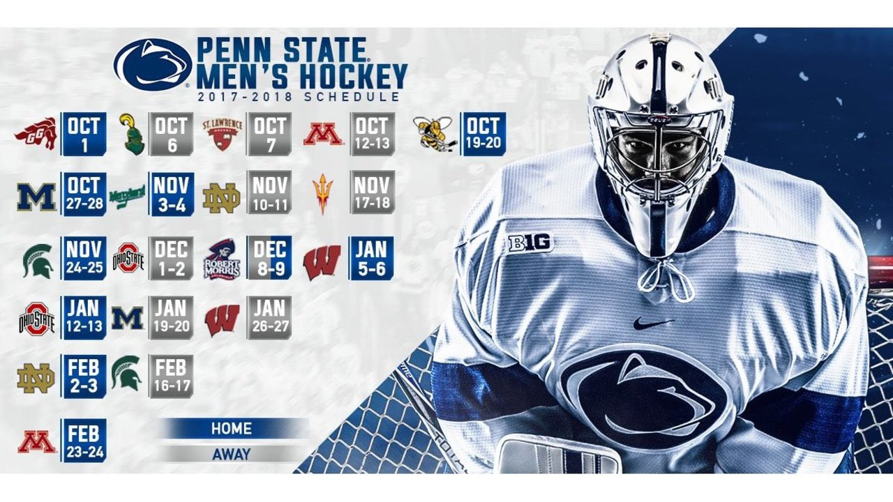 penn state announces 2017-18 men's hockey schedule