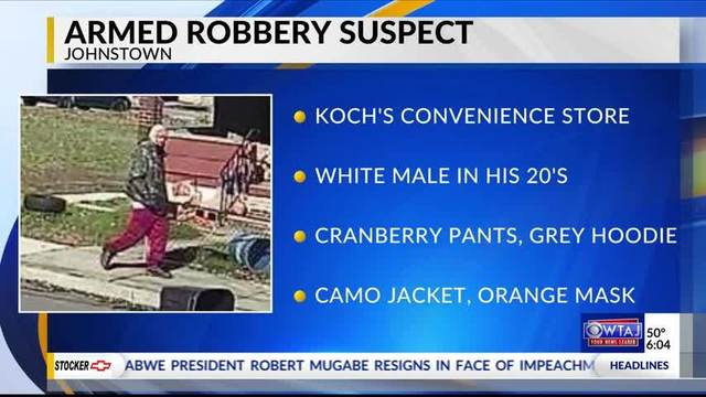 Johnstown police search for armed robbery suspect