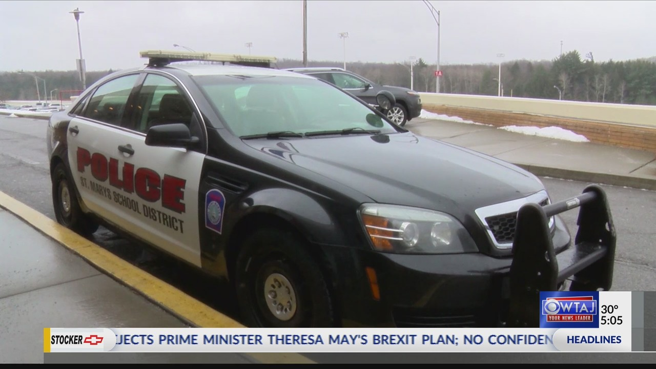 businesses pitch in to purchase police car for school