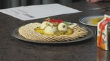 Grilled Pineapple with Mascarpone Cheese and Pistachios