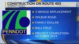 Construction on Route 403 in Somerset County