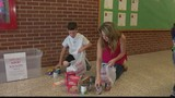 4th grader holds community food drive
