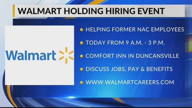 Walmart holding hiring event today